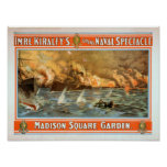 Espectáculo naval magnífico Madison Square Garden Posters