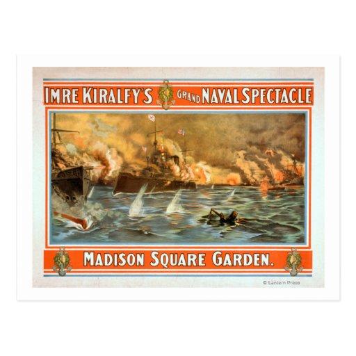 Espectáculo naval magnífico Madison Square Garden Postal