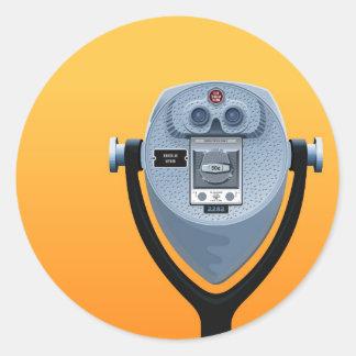 Espectador binocular pegatinas redondas