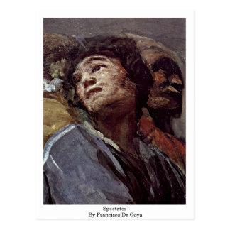 Espectador de Francisco De Goya Tarjetas Postales