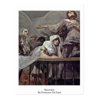 Espectador de Francisco De Goya Postales