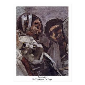 Espectador de Francisco De Goya Postal