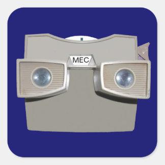 Espectador retro del Foto-carrete Colcomanias Cuadradas Personalizadas