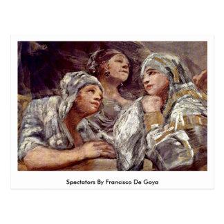 Espectadores de Francisco De Goya Tarjetas Postales
