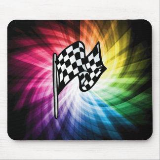 Espectro a cuadros de la bandera tapetes de ratones