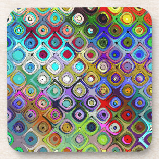 Espectro abstracto de formas posavasos de bebidas