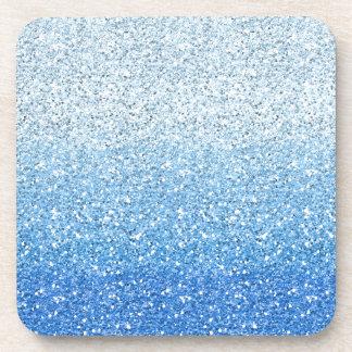 Espectro azul reluciente de Ombre Posavasos De Bebida