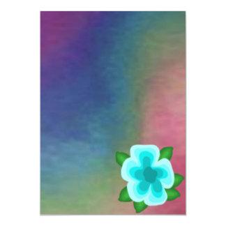 Espectro con la invitación de la flor de la