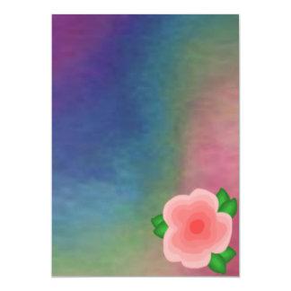 Espectro con la invitación de la flor del