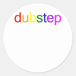 Espectro de color de Dubstep Etiquetas Redondas