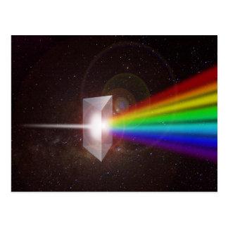 espectro de color de la prisma postales
