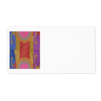 Espectro de color de seda del satén rico etiquetas de envío