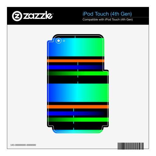 espectro de color iPod touch 4G skins