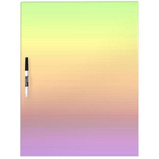 Espectro de colores horizontales -3 pizarras blancas