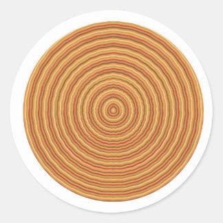 Espectro de energía del oro - mantenga vista pegatina redonda