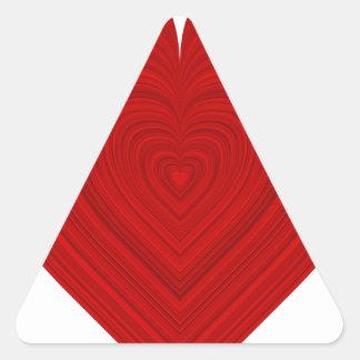 espectro de la palabra pegatina triangular