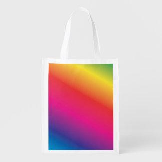 Espectro del arco iris bolsa reutilizable