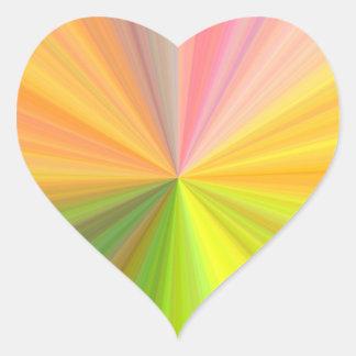 Espectro del arco iris del color calcomanía de corazón personalizadas