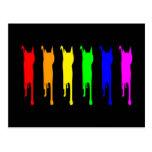 Espectro del fondo negro de los gatos 2 tarjeta postal