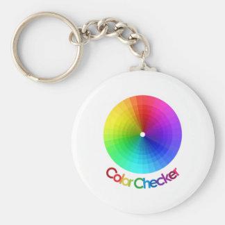 Espectro del inspector del color llaveros personalizados