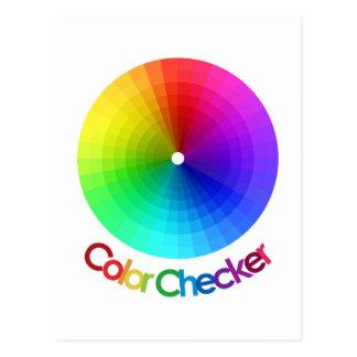 Espectro del inspector del color tarjeta postal
