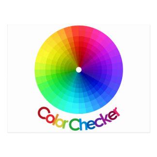 Espectro del inspector del color tarjetas postales