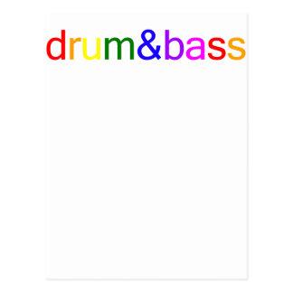 Espectro del tambor y del bajo postales