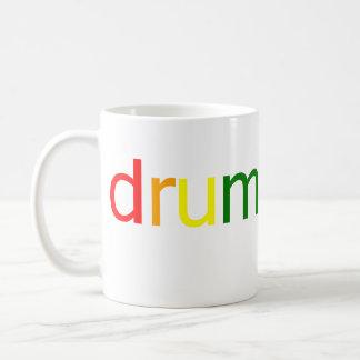 Espectro del tambor y del bajo taza de café