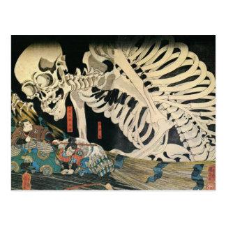 Espectro esquelético por la postal de Kuniyoshi Ut