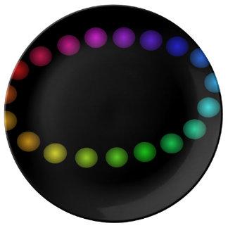 Espectro moderno 2 del fiesta de cena de la placa plato de cerámica