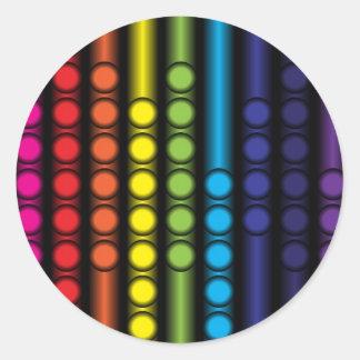 Espectro punteado pegatina redonda