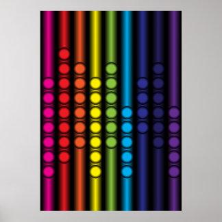 Espectro punteado póster