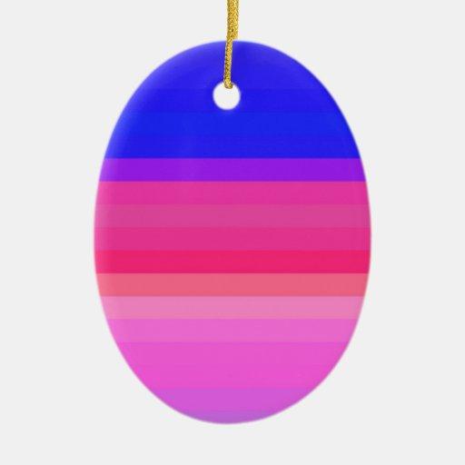 Espectro reconstruido adorno navideño ovalado de cerámica
