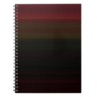 Espectro reconstruido libro de apuntes con espiral