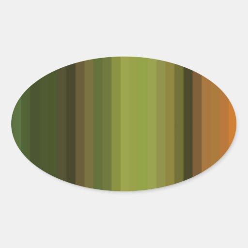 Espectro reconstruido pegatina de oval personalizadas