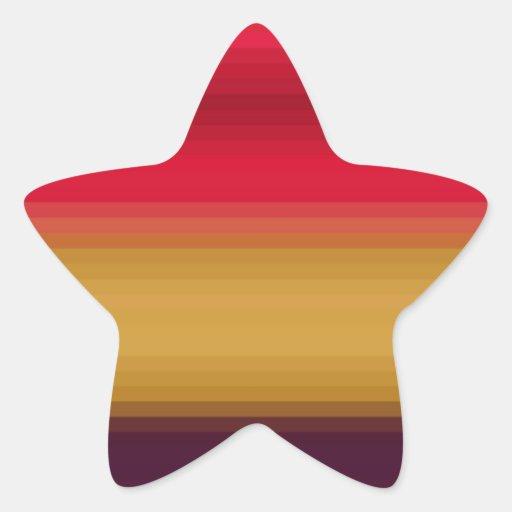 Espectro reconstruido pegatina en forma de estrella
