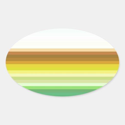 Espectro reconstruido pegatina óval personalizadas