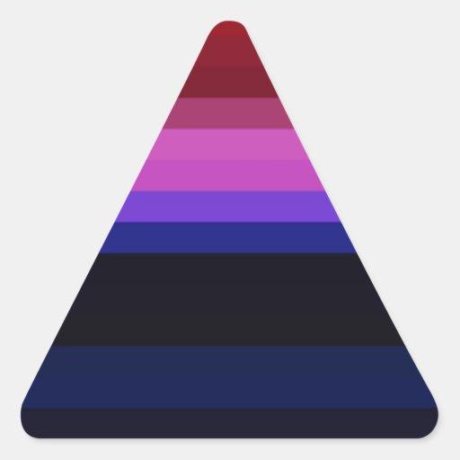 Espectro reconstruido pegatina triangular
