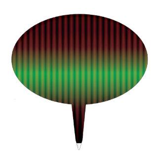 espectro verde abstracto figura de tarta