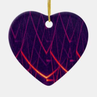 Espectrograma Adorno Navideño De Cerámica En Forma De Corazón