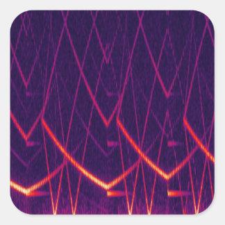 Espectrograma Pegatina Cuadrada