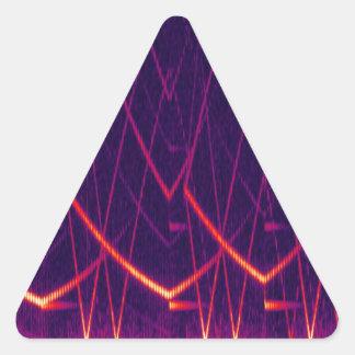 Espectrograma Pegatina Triangular