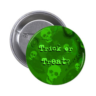 "Espectros ""truco o invitación del cráneo?"" botón"