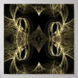 Espejo abstracto posters