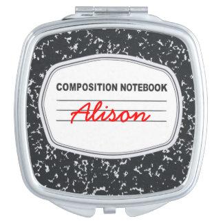 Espejo adaptable del acuerdo del cuaderno de la espejo maquillaje