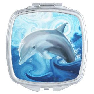 Espejo amistoso del monedero del delfín espejo maquillaje