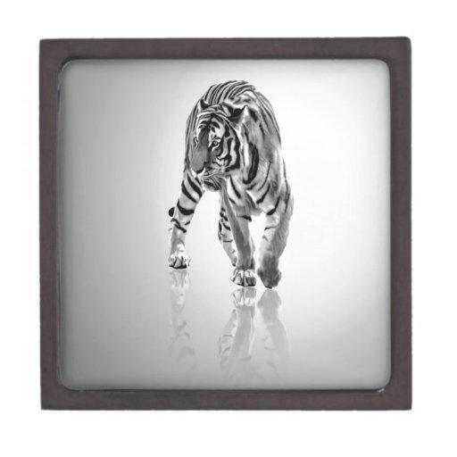 Espejo animal abstracto del tigre cajas de joyas de calidad