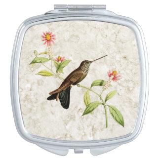Espejo Bronzy del acuerdo del colibrí del inca Espejos De Maquillaje