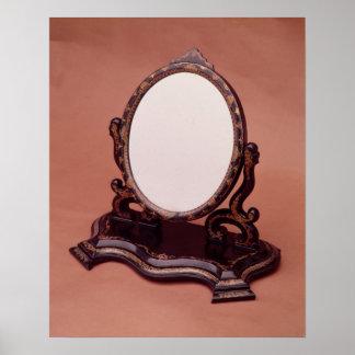 espejo Cerda-pintado del cartón piedra, c.1890 Póster