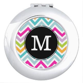 Espejo colorido del acuerdo del monograma de Chevr Espejo Maquillaje